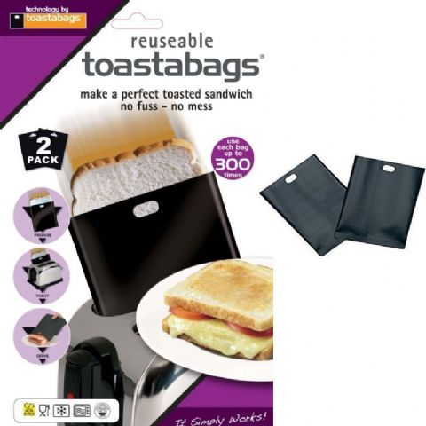 Pack 2 Toastabags Heavy Duty 300 Toasted Sandwich Toaster Bags